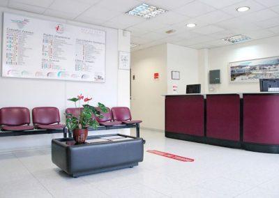 Recepción Centro Médico Vida Realejos